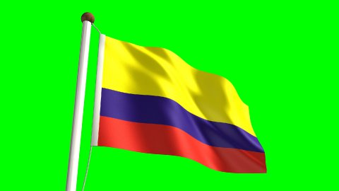Colombia flag - stock footage