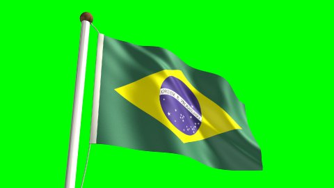 Brazil flag - stock footage