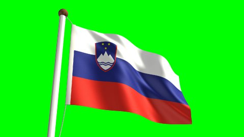 Slovenia flag - stock footage