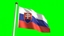 Slovakia flag - motion graphic