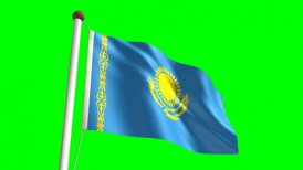 Kazakhstan flag - motion graphic