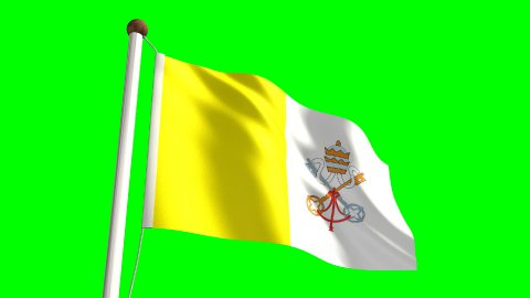 Vatican flag - stock footage