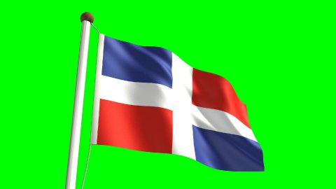 Dominican Republic flag - stock footage