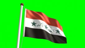 Iraq flag - motion graphic