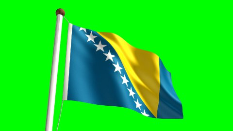 Bosnia and Herzegovina flag - stock footage
