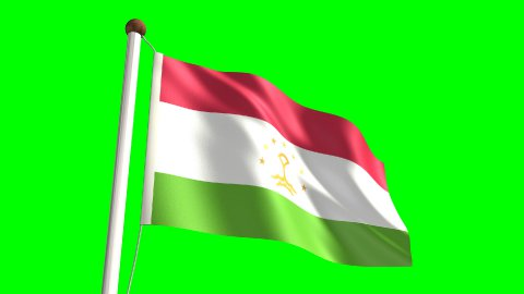 Tajikistan flag - stock footage