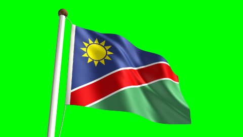 Namibia flag - stock footage