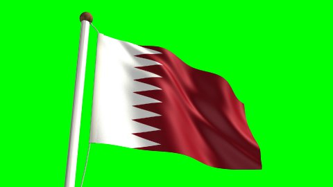 Qatar flag - stock footage