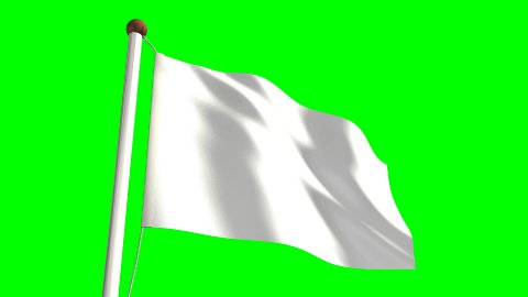All White flag - stock footage