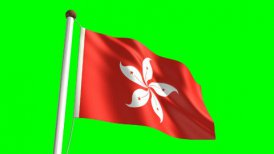 Hong Kong flag - motion graphic
