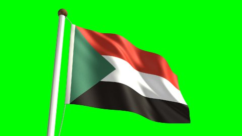 Sudan flag - stock footage