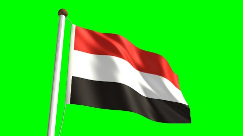 Yemen flag - stock footage