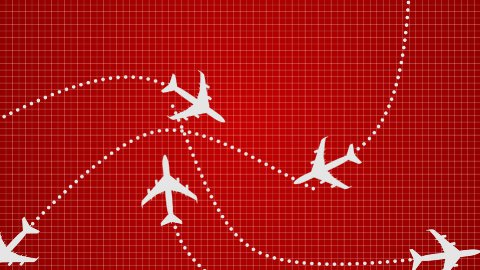 Plane Red - stock footage