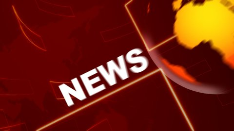 News Red - stock footage