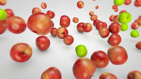 Apples Falling - stock footage