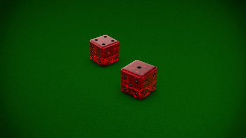 Casino Serie Dices - stock footage
