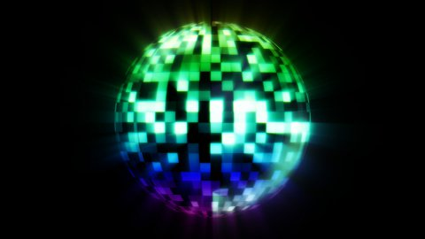 Discoball Color - stock footage