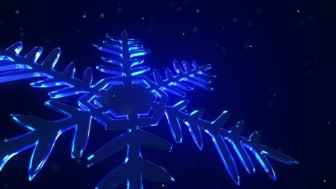 3d Snowflake Blue - stock footage