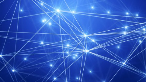 Connection Loop Blue HD - stock footage