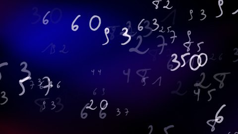 Numbers Loop - stock footage