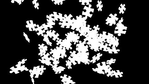 Puzzle Gathering - stock footage