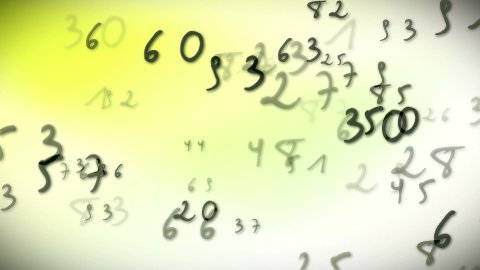 Numbers bright - stock footage