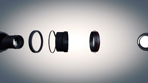Lens Side View - stock footage