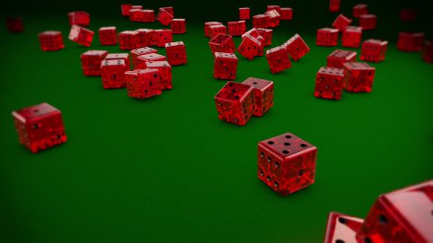 Dices Falling - stock footage