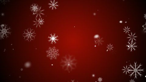 Snow flakes red - stock footage
