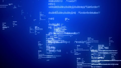 Coding Data Blue - stock footage