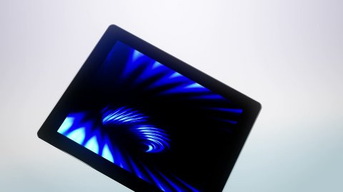 Tablet Moves White - stock footage