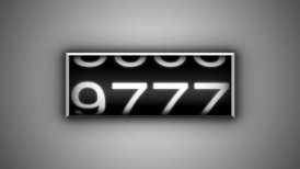 Odometer White - editable clip, motion graphic, stock footage