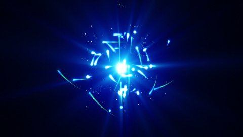blue particles rush and light loop - stock footage