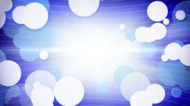 white blue circles growing loop - motion graphic