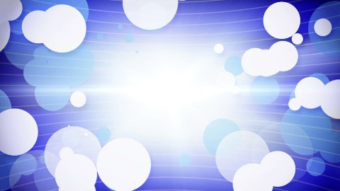 white blue circles growing loop - stock footage