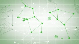 technology network loop green background