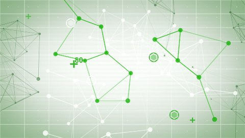 technology network loop green background - stock footage
