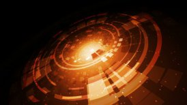 Radial abstract animated background. (Loop) - motion graphic