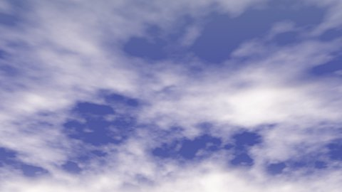 Moving Clouds - stock footage