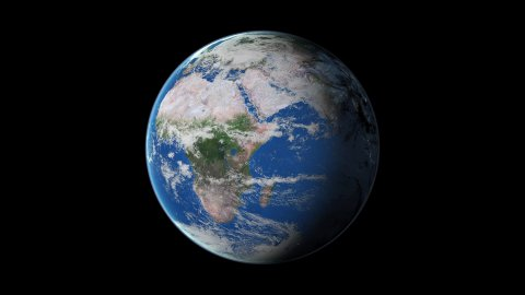 Day & Night from space - stock footage