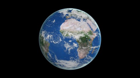 Earth from space - stock footage