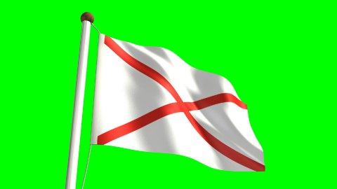 Alabama flag - stock footage