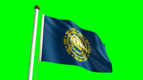 New Hampshire flag - stock footage