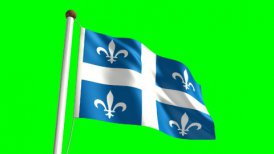 Quebec flag - editable clip, motion graphic, stock footage