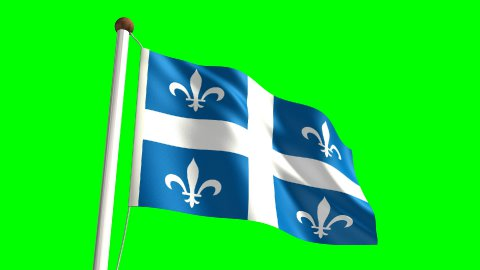 Quebec flag - stock footage