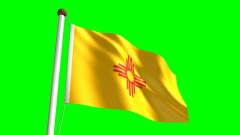 New Mexico flag - stock footage