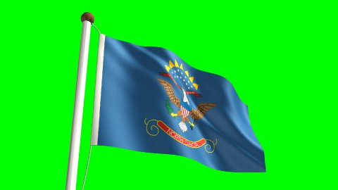 North Dakota flag - stock footage
