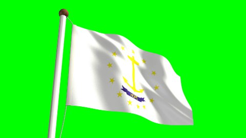 Rhode Island Flag - stock footage