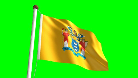 New Jersey flag - stock footage