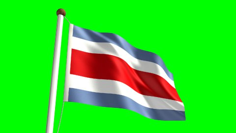 Costa Rica flag - stock footage